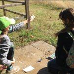 Girls orienteering
